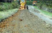 Ремонт  сельской дороги методом стабилизации грунта полимером   (58)