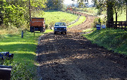 Ремонт  сельской дороги методом стабилизации грунта полимером   (85)
