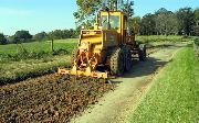 Ремонт  сельской дороги методом стабилизации грунта полимером   (63)