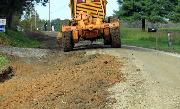 Ремонт  сельской дороги методом стабилизации грунта полимером   (53)