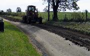 Ремонт  сельской дороги методом стабилизации грунта полимером   (55)