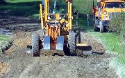 Ремонт  сельской дороги методом стабилизации грунта полимером   (78)