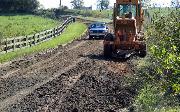 Ремонт  сельской дороги методом стабилизации грунта полимером   (87)