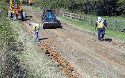 Ремонт  сельской дороги методом стабилизации грунта полимером   (89)