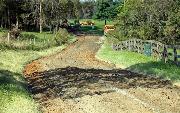 Ремонт  сельской дороги методом стабилизации грунта полимером   (69)