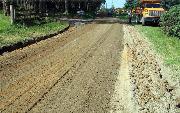 Ремонт  сельской дороги методом стабилизации грунта полимером   (97)