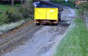 Ремонт  сельской дороги методом стабилизации грунта полимером   (62)